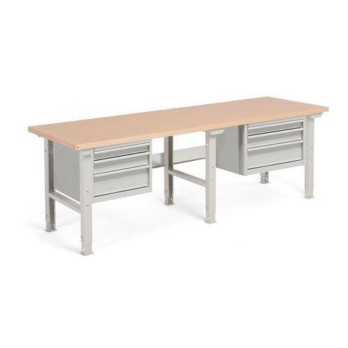 Aj produkty Stół warsztatowy robust, z regulacją wysokości, 6 szuflad, 800x2500 mm