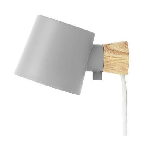 Normann copenhagen Rise-kinkiet ścienny stal/drewno dł.17cm