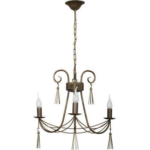 Lampa wisząca Nowodvorski Twist 2764 świecznikowa zwis oprawa żyrandol 3x60W E14 brąz/patyna