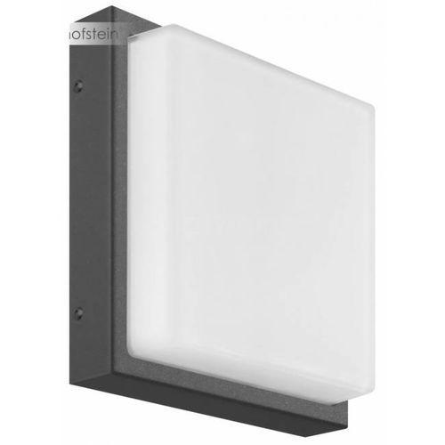 Lcd zewnętrzny kinkiet led siwy, 1-punktowy - nowoczesny - obszar zewnętrzny - lcd - czas dostawy: od 3-6 dni roboczych (8033239493666)