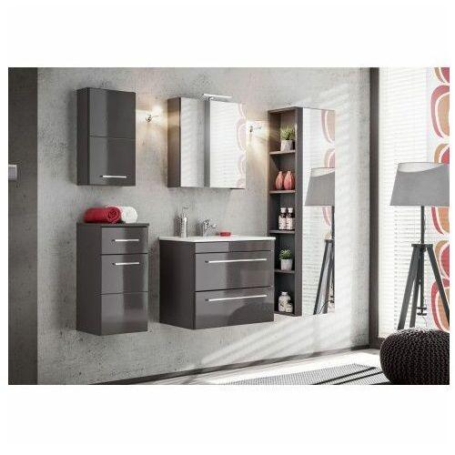 Komplet szafek łazienkowych - malaga 2q grafit połysk marki Producent: elior