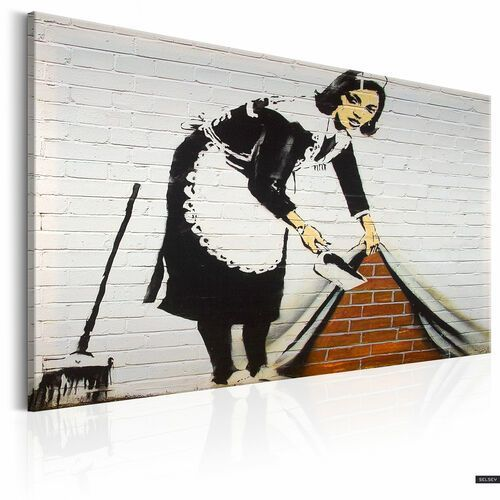 Bimago Selsey obraz - maid in london by banksy 90x60 cm (5903025042077)