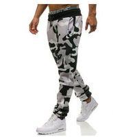 Athletic Spodnie męskie dresowe joggery moro-szaro-żółte denley 0801