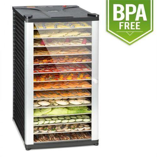 Fruit jerky 14 automat do suszenia 1000w 14 segmentów ze stali czarny marki Klarstein