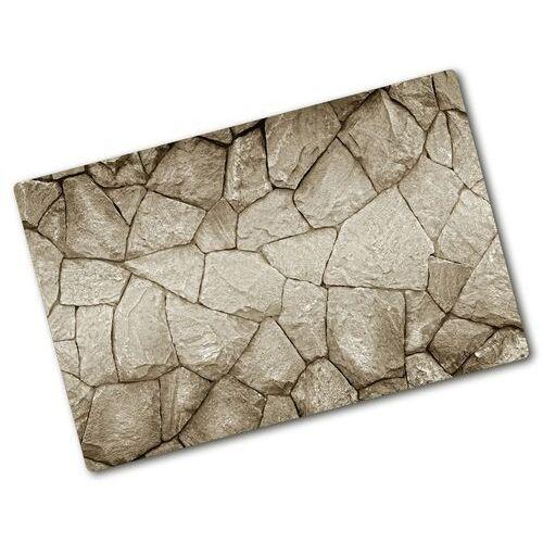 Deska kuchenna duża szklana Ściana z kamienia