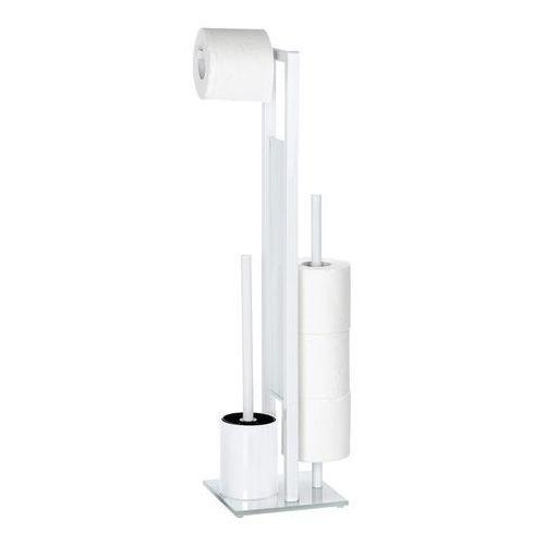 Stojak na papier toaletowy i szczotkę do wc, rivalta white - 3 w 1, marki Wenko