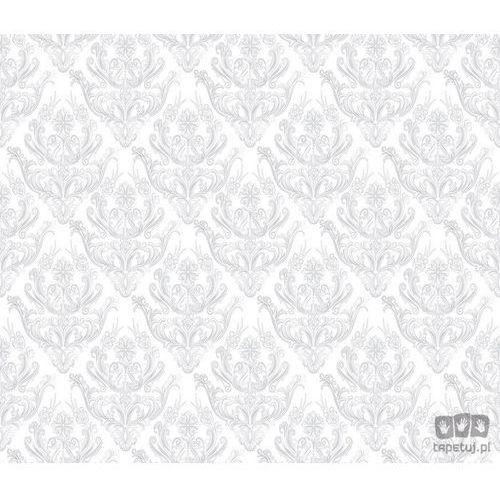 Fototapeta tradycyjne kwiatowe wzory – szare na białym tle 1455 marki Consalnet