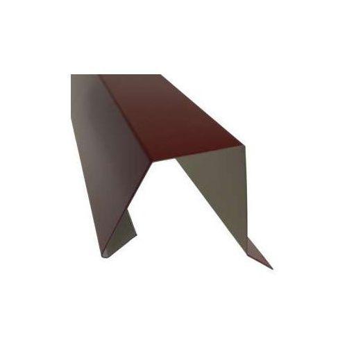Wiatrownica pod gont bitumiczny lub papę (nakładka) - 0048 aluminium, opierzenie_0048_alu