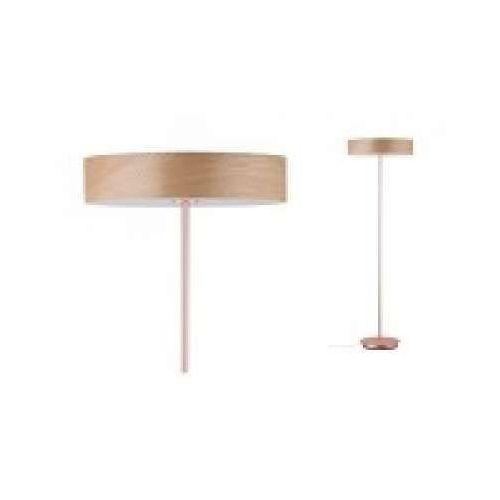 Oprawa podłogowa Neordic Liska, 3 lampy Wood / miedź matowa, PAULMANN 79648