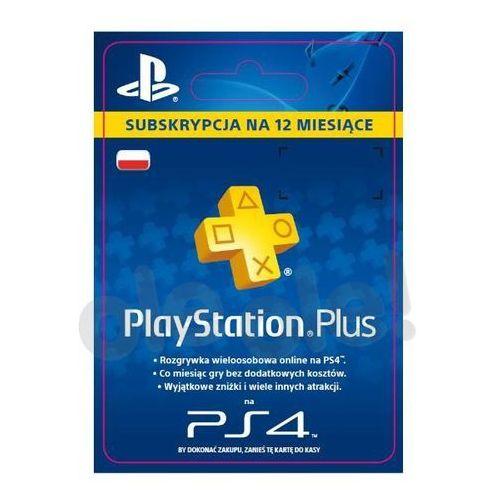 OKAZJA - subskrypcja playstation plus 12 m-ce [kod aktywacyjny] marki Sony