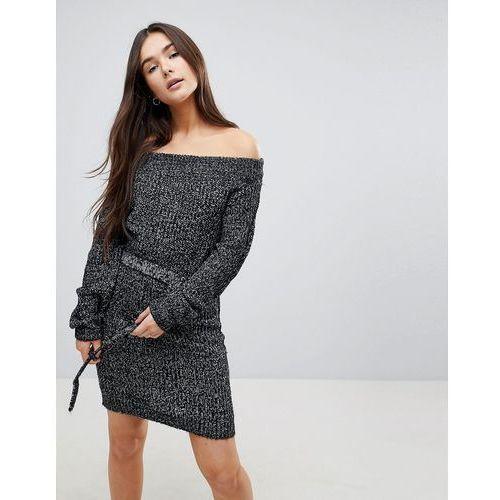 bardot jumper dress - grey marki Qed london