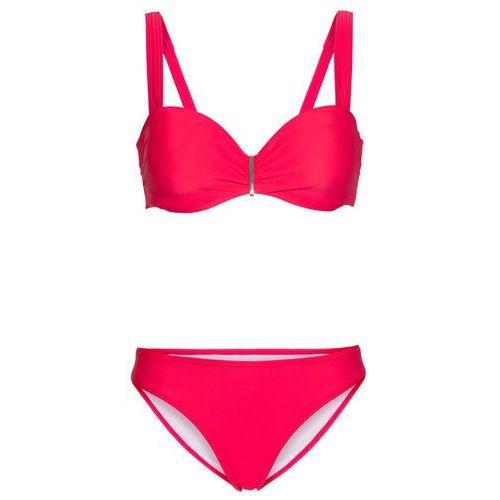Bikini na fiszbinach (2 części) koralowy marki Bonprix