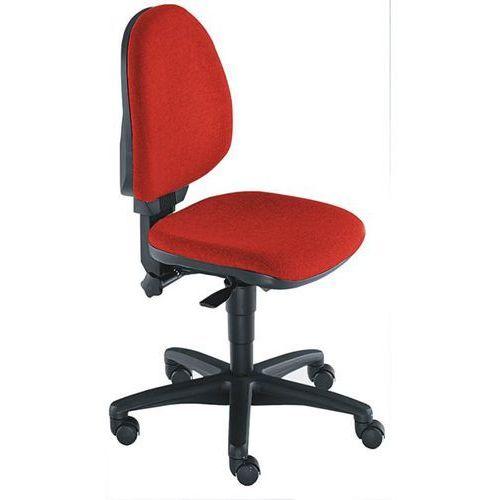 Topstar Standardowe krzesło obrotowe, bez poręczy, oparcie 450 mm, materiał czerwony, sz