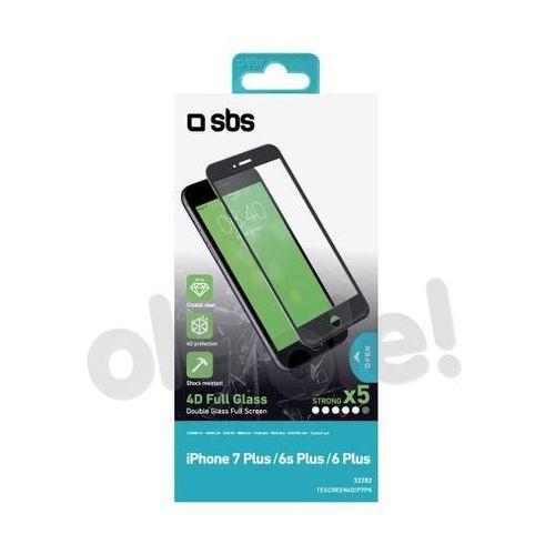 Sbs  4d glass screen protector tescreen4dip7pw iphone 7 plus/6s plus/6 plus (biały) - produkt w magazynie - szybka wysyłka!