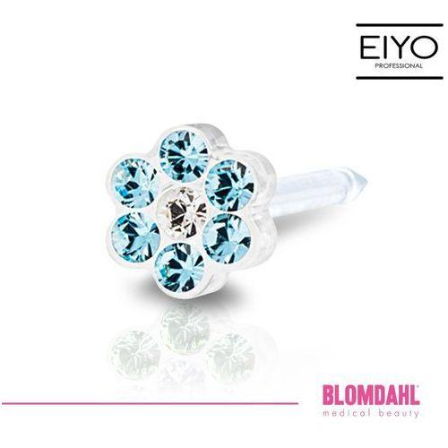 Blomdahl Kolczyk do przekłuwania uszu - daisy aquamarine / crystal 5 mm