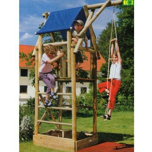 Drewniany zestaw do zabawy w ogrodzie