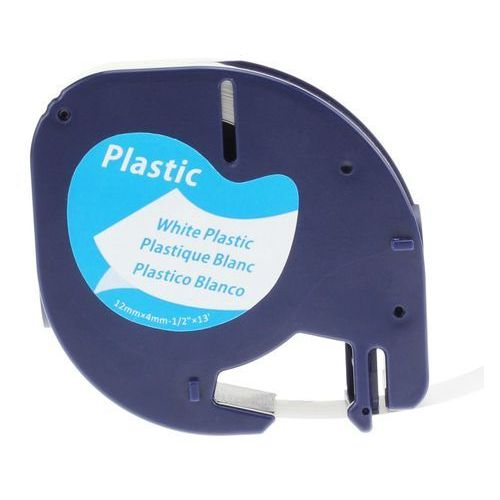 Dymo Taśma letra tag 12mm/4m plastik - biała 59422