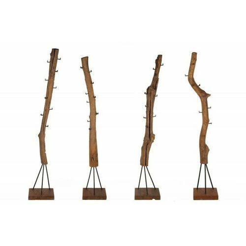 Invicta wieszak hemingway 200 cm teak -, drewno naturalne, metal marki Sofa.pl