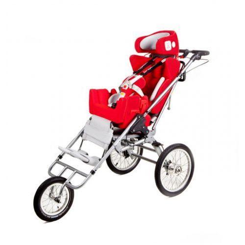 Multifunkcyjny rehabilitacyjny fotelik samochodowy, wózek i opcjonalnie przyczepka rowerowa dla niepełnosprawnych do 75kg CARROT 3 Multiroller, 151