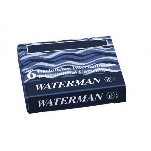 Naboje Waterman Krótkie Niebiesko-Czarny (6szt.) (3034325201795)