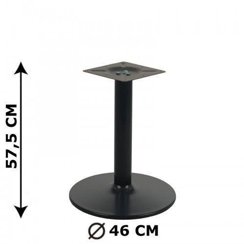 Podstawa stolika ny-b006, czarna, wysokość 57,5 cm (stelaż stolika, stołu) marki Stema - ny
