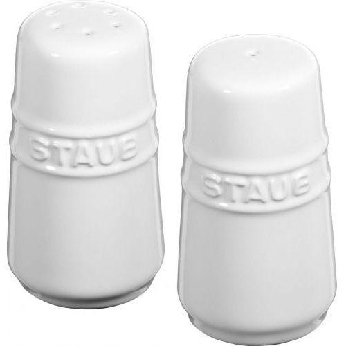 Staub solniczka i pieprzniczka białe (4009839360794)