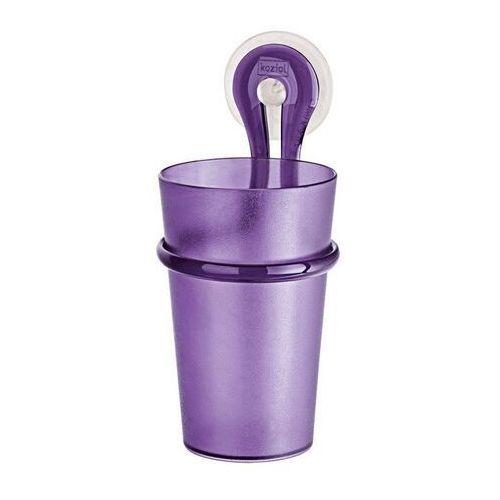 - kubeczek łazienkowy loop - fioletowy - fioletowy marki Koziol
