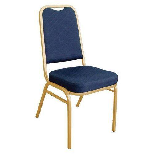 Krzesło bankietowe z kwadratowym oparciem niebieski (4 sztuki) marki Bolero
