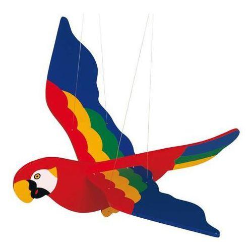 Drewniana dekoracja do zawieszenia. kolorowa papuga ii do pokoju. od producenta Goki