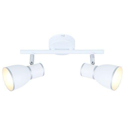 Candellux Listwa lampa sufitowa plafon spot fido 2x40w e14 biała / chrom 92-63373