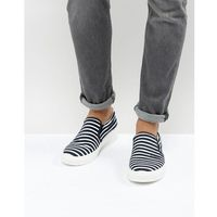 stripe slip on plimsolls in navy - navy marki Armani jeans