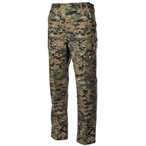 Max fuchs (mfh) Spodnie max-f mfh acu ripstop unis mater 100% cotton długie - digital woodland