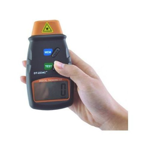 Tachometr/obrotomierz laserowy z wyświetlaczem lcd + pokrowiec... marki Velleman
