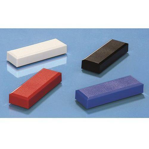 Magnes prostokątny, opak. 60 szt., dł. x szer. 53x18 mm, przyczepność 1 kg, sort