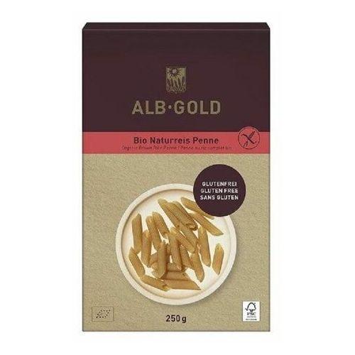 MAKARON (RYŻOWY RAZOWY) PENNE BEZGLUTENOWY BIO 250 g - ALB GOLD, 4018722344353