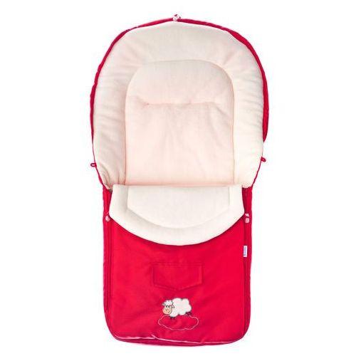 Sensillo Śpiworek do wózka z polaru 95x40 cm, Red (5902021524938)
