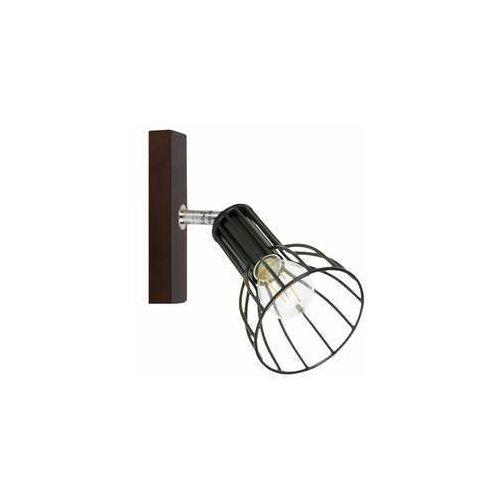 megan wood 2344176 kinkiet lampa ścienna 1x40w e14 brązowy/czarny marki Spot light