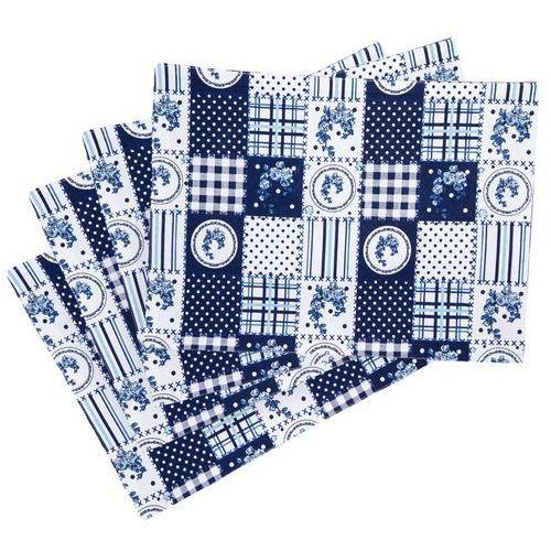 4home Trade concept podkładka country patchwork niebieski, 33 x 45 cm, 4 szt.