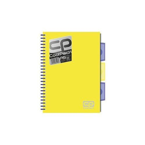 Brulion A5/200 kartek CoolPack Neon żółty (5907690851989)