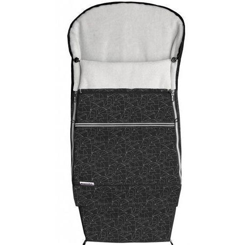 śpiworek do wózka combi extra, czarny/szary marki Emitex