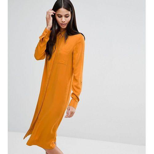 casual midi shirt dress - orange marki Asos tall