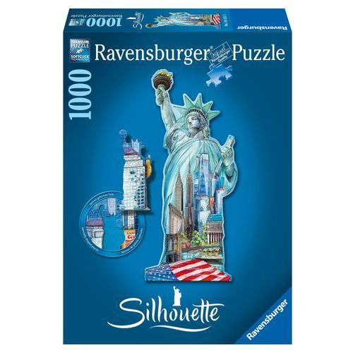 Ravensburger Puzzle Statua Wolności Nowy Jork Sylwetka, 1000 el. (4005556161515)