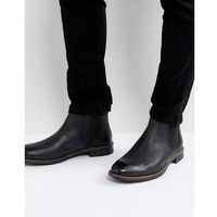 huntington chelsea leather boots in black - black marki Levis