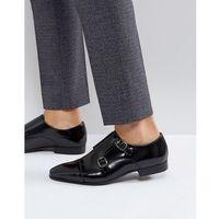 Walk London City Monk Strap Shoes In Black - Black