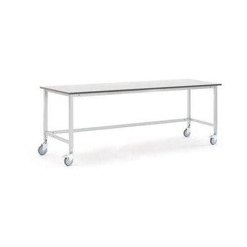 Mobilny stół roboczy MOTION, 2000x800 mm