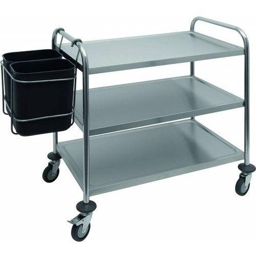 Pojemnik na śmieci do wózka kelnerskiego ab 2 | 2 x 8l | 420x290x(h)450mm marki Saro