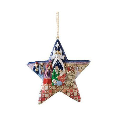 Gwiazda zawieszka szopka, (hanging ornament), 4010627 figurka ozdoba świąteczna marki Jim shore