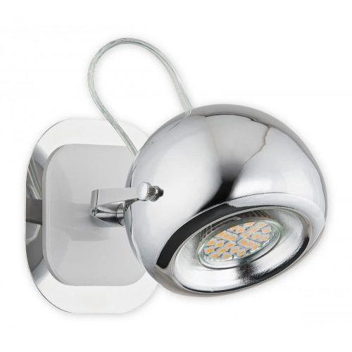 Lemir Geos kinkiet / spot 1 pł. / chrom + biały, dodaj produkt do koszyka i uzyskaj rabat -10% taniej! (5902082863939)