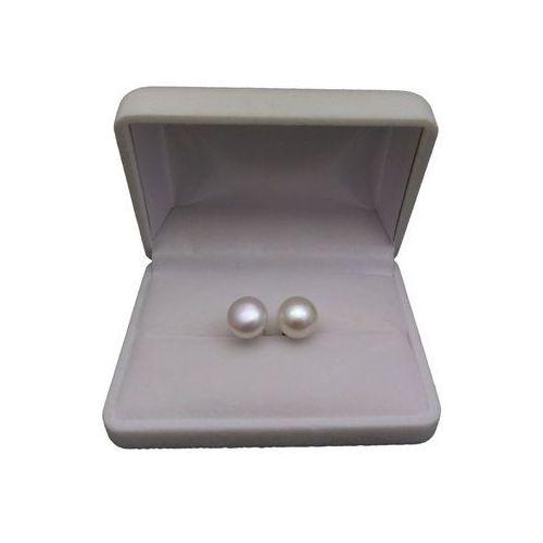 Perlyikamienie.pl Kolczyki - białe perły 11 mm - pk08-a