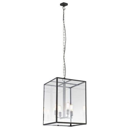 Kaspa Lampa wisząca vita l 10157106 designerska oprawa klatka loft brązowa przezroczysta (5902047300509)